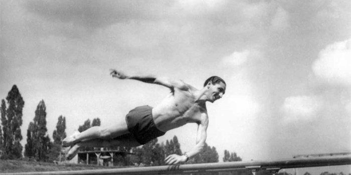 Fredy Hirsch als sportman in Theresienstadt